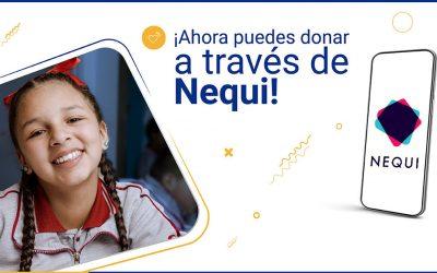 ¡Ahora puedes apoyar a los niños y maestros a través de Nequi!