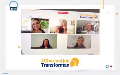 Dimos inicio a nuestras #CharlasQueTransforman hablando sobre cómo los maestros fortalecen su ser para innovar en sus prácticas educativas.
